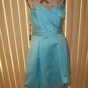 ALFRED ANGELO BLUE BOX BRIDESMAID DRESS SIZE 10
